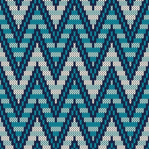 Motif Traditionnel Fair Isle. Ornement De Tricot Sans Couture Vecteur Premium