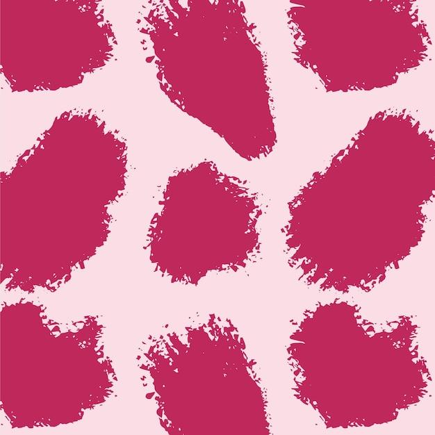 Motif De Trait De Pinceau Abstrait Rose Vif Vecteur Premium