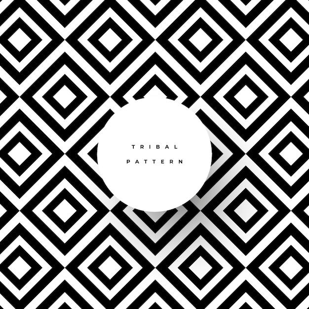 Motif tribal abstrait Vecteur gratuit