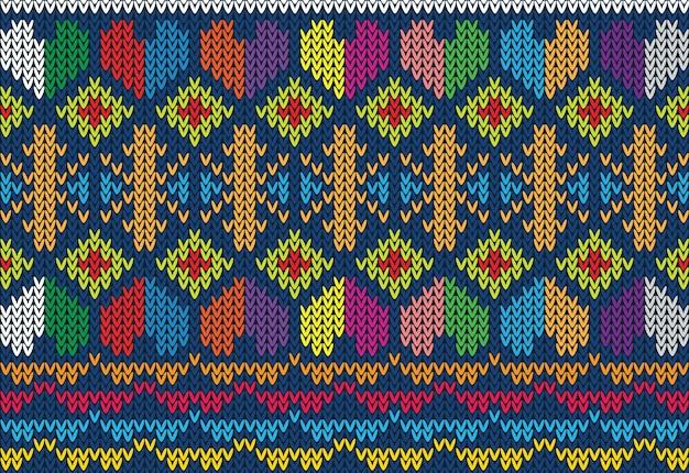 Motif tricoté texture Vecteur Premium