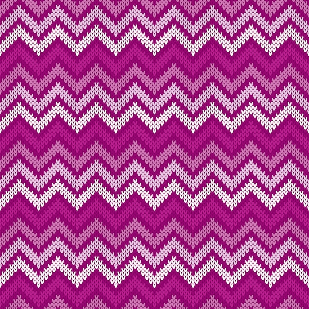 Motif Tricoté Traditionnel Chevron Abstrait Fair Isle. Ornement Sans Couture Pour La Conception De Pull Vecteur Premium