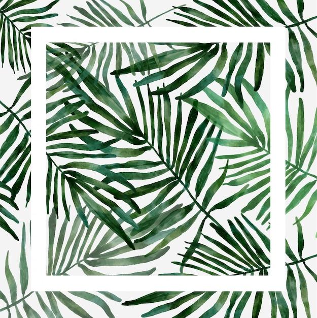 Motif tropical de feuilles Vecteur Premium