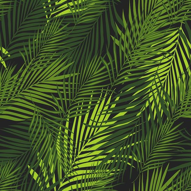 Motif tropical, fond botanique de vecteur Vecteur Premium