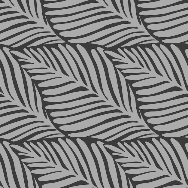 Motif tropical jungle feuilles jungle Vecteur Premium