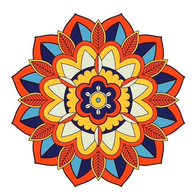 Motifs De Mandala Sur Blanc Vecteur gratuit