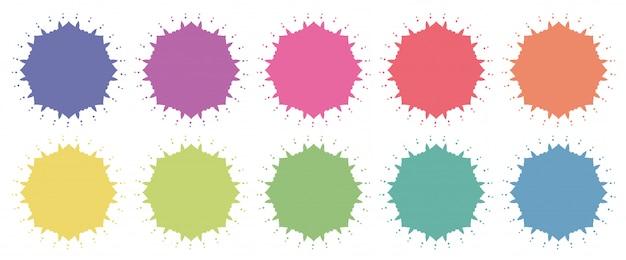 Motifs De Mandala De Différentes Couleurs Vecteur gratuit