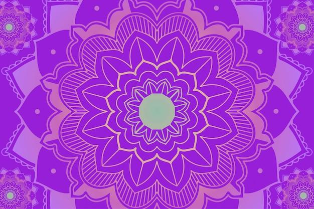 Motifs Mandala Sur Fond Violet Vecteur gratuit