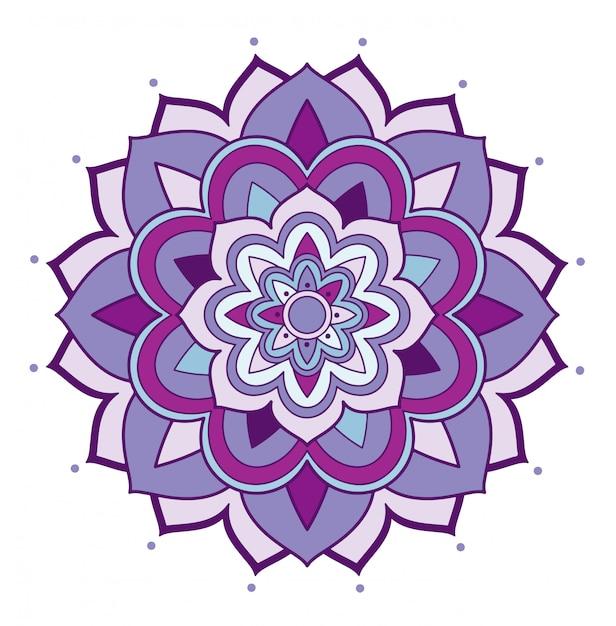 Motifs De Mandala Vecteur gratuit