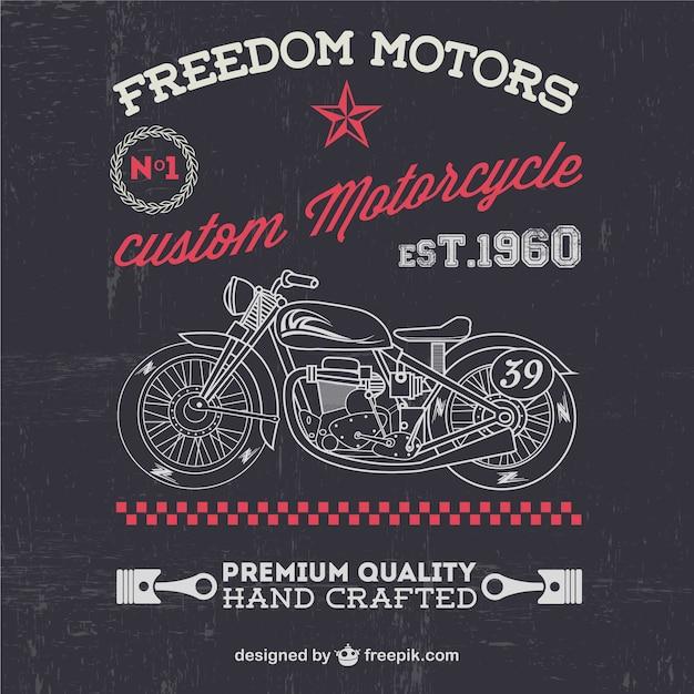 Moto vintage libre pour downlaod Vecteur gratuit