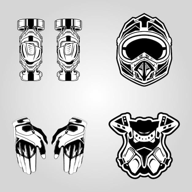 Motocross de sécurité Vecteur Premium