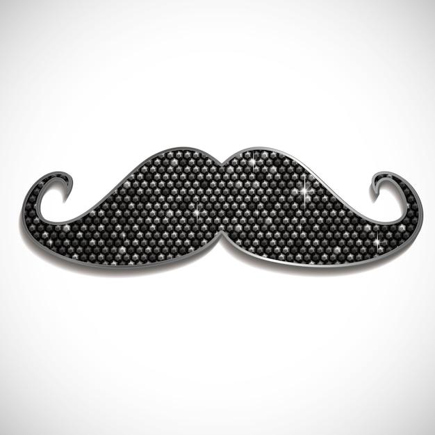 Moustache brillante Vecteur Premium