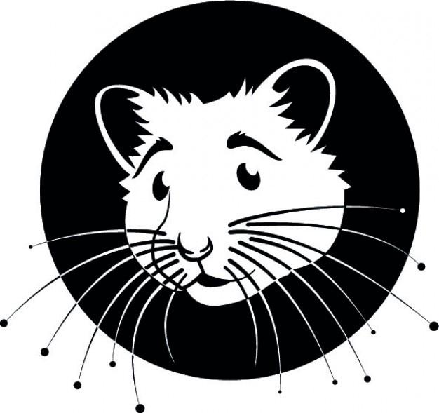 Moustaches hamster vecteur de logo de dessin anim - Hamster dessin anime ...