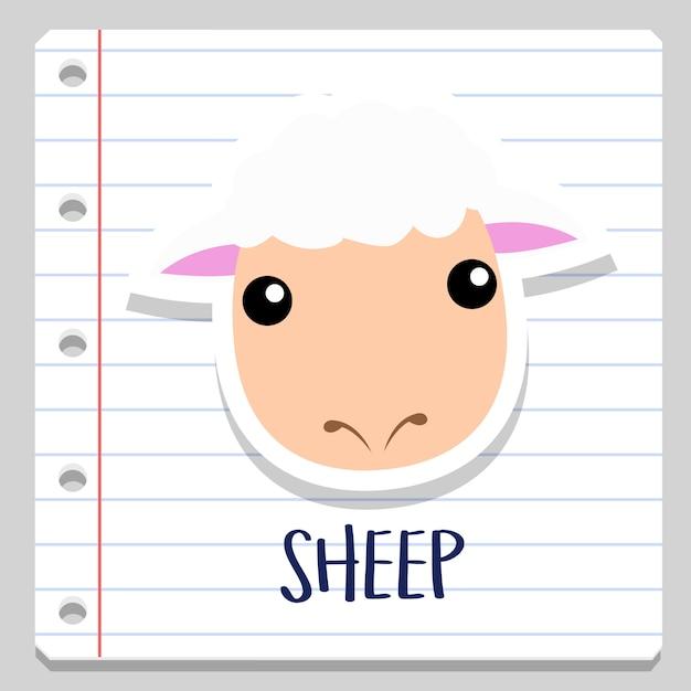 Mouton Ferme Animaux Cahier Clipart Télécharger Des