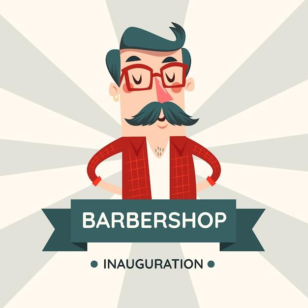 Movember design background avec moustache Vecteur gratuit