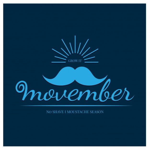 Movember Vecteur Premium