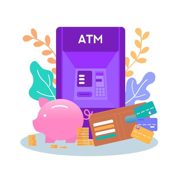 Moyens d'économiser de l'argent stockage obtenir de l'argent bannière Vecteur Premium