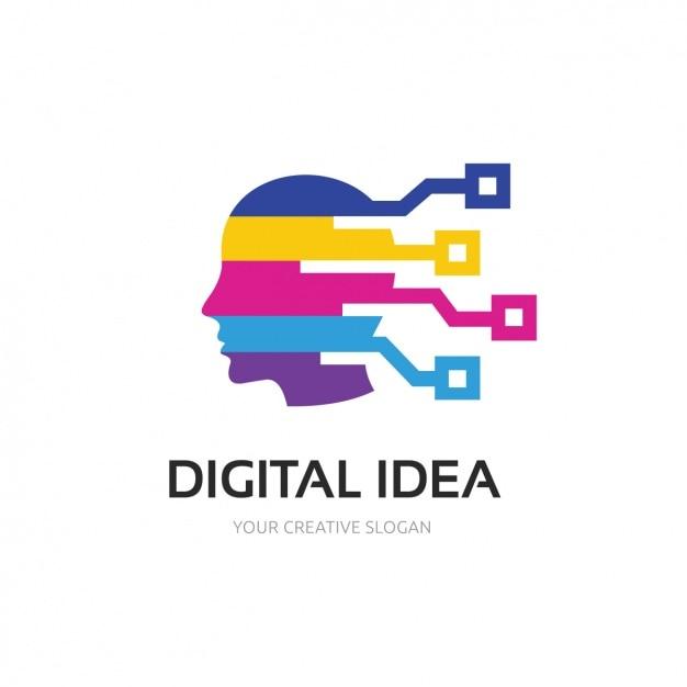 Multicolor Logo Modèle Vecteur gratuit