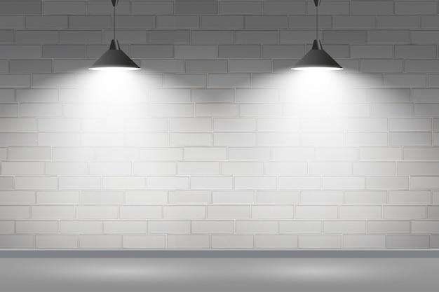 Mur De Briques Avec Concept De Fond De Spots Vecteur gratuit