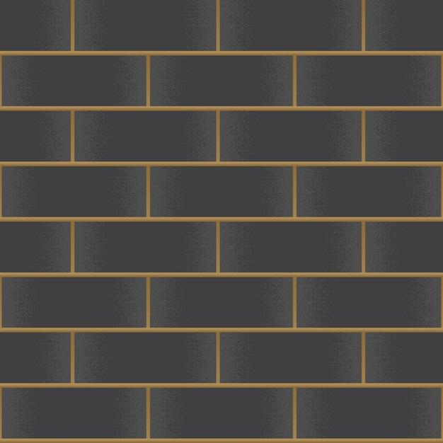 Mur de briques noires vintage Vecteur Premium