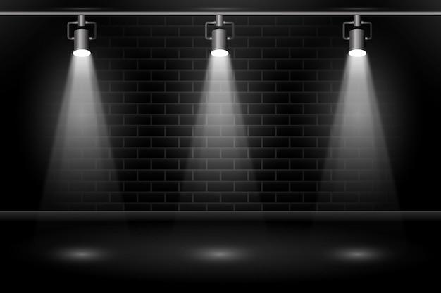 Mur De Briques Avec Des Spots Papier Peint Vecteur gratuit