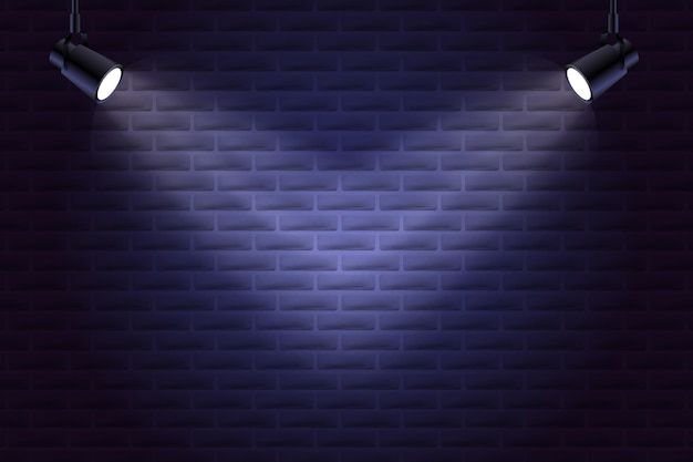 Mur De Briques Avec Style De Fond De Spots Vecteur gratuit