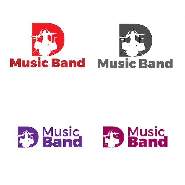 D music band Vecteur Premium