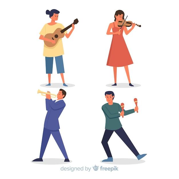 Les Musiciens Vecteur gratuit