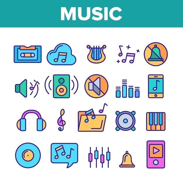 Musique, audio Vecteur Premium