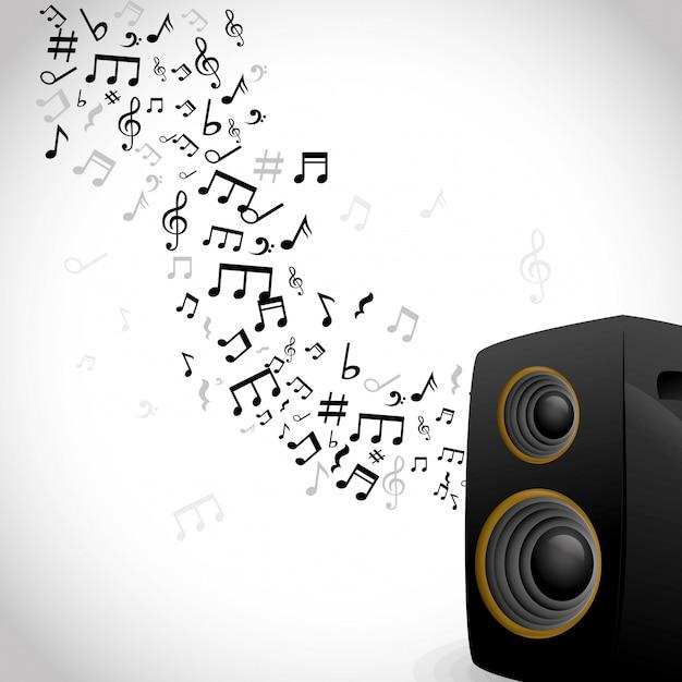 Musique et conception sonore Vecteur Premium