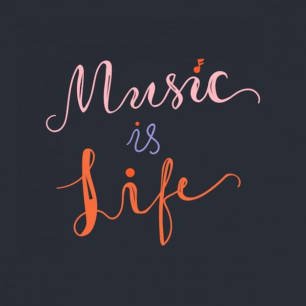 La musique est la vie Vecteur Premium