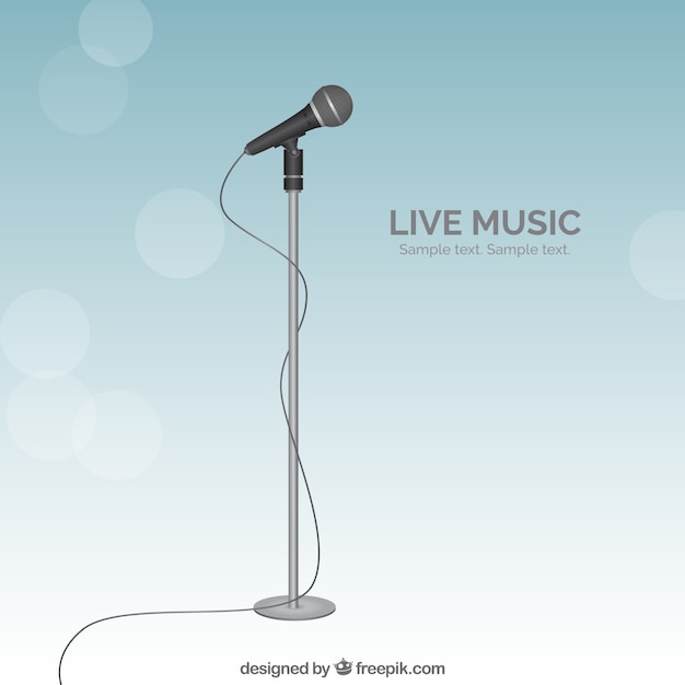 Musique Live Vecteur gratuit