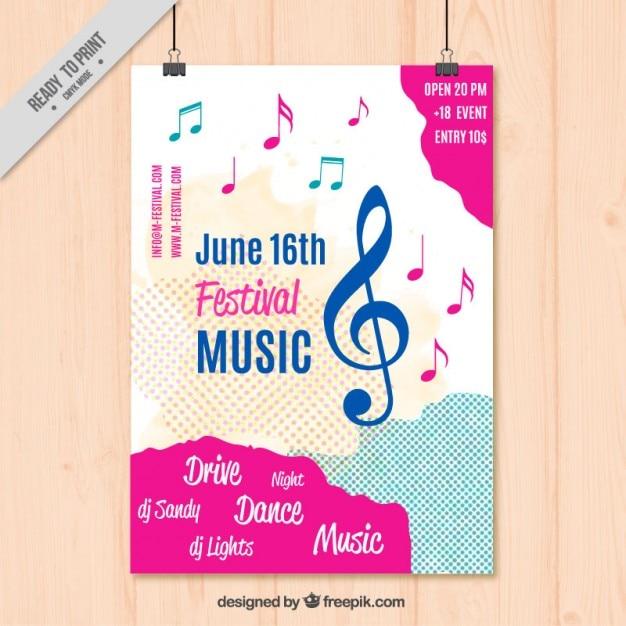 Musique modèle d'affiche Vecteur gratuit