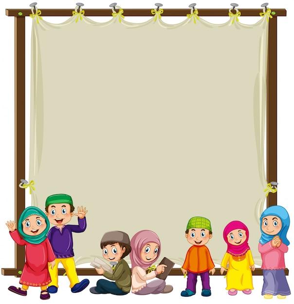 Musulman et signe Vecteur gratuit