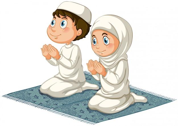 Les Musulmans Vecteur gratuit