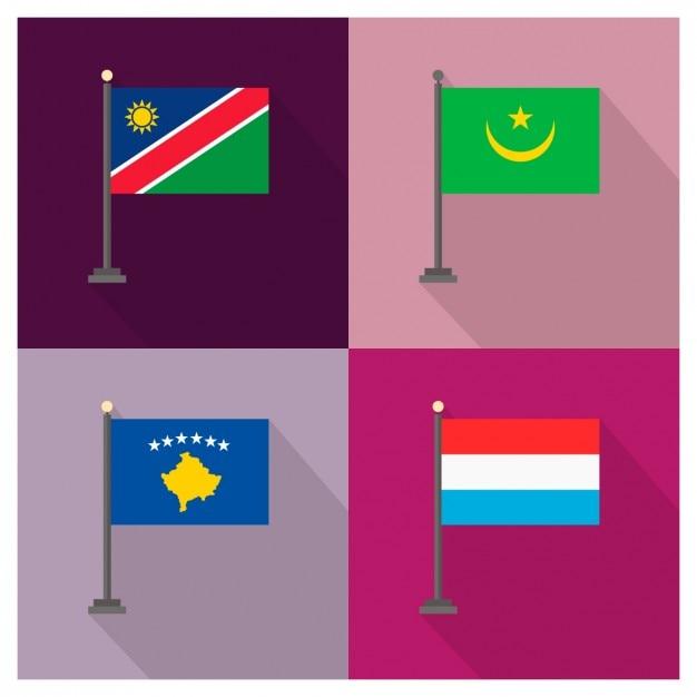 Namibie mauritanie kosovo luxembourg Vecteur gratuit