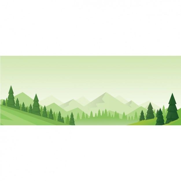Natural Fond De Paysage Vecteur gratuit