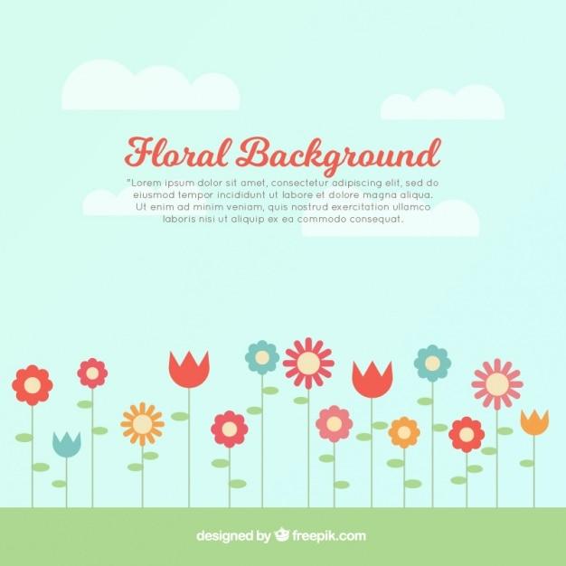 nature de fond avec des fleurs