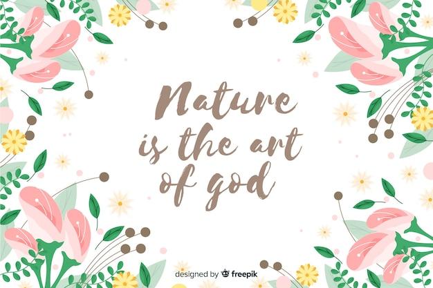 La nature est l'art de dieu fond floral Vecteur gratuit