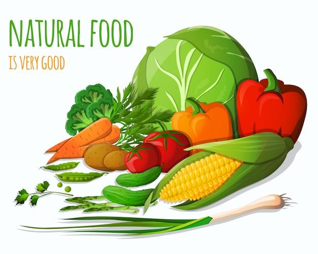 Nature morte aux légumes Vecteur gratuit