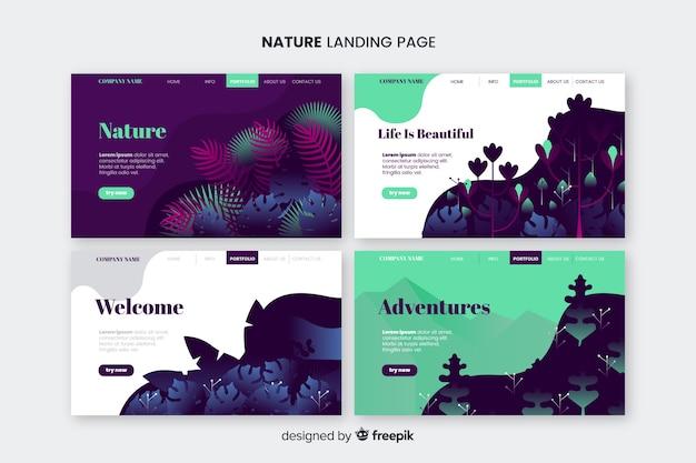 Nature page de destination Vecteur gratuit