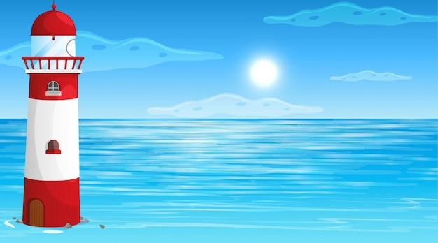 Nature vide plage paysage océan côtier Vecteur gratuit
