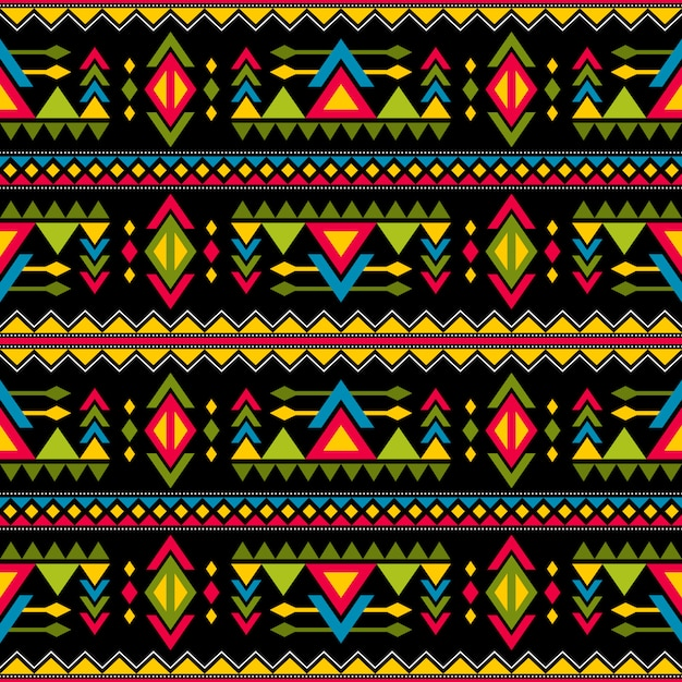 Navajo tissage modèle vectorielle continue de la mode. vintage art tribal impression de fond sans fin ethnique africain Vecteur Premium