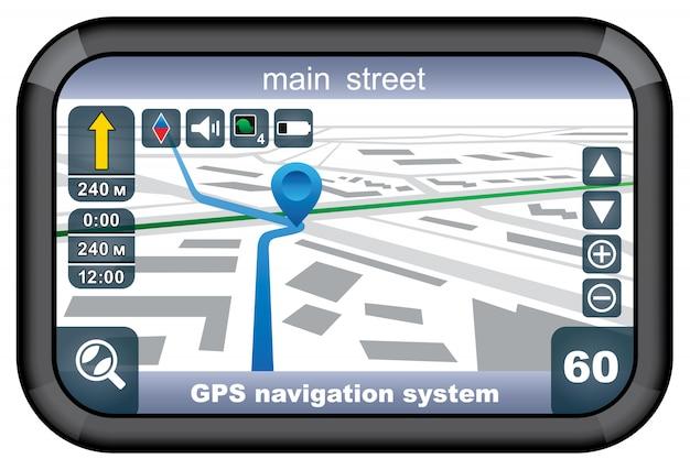 Navigateur Gps. Vecteur Premium