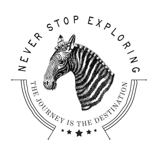 Ne jamais cesser d'explorer le vecteur de conception de logo Vecteur gratuit