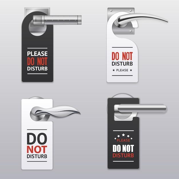 Ne pas déranger les étiquettes Vecteur gratuit