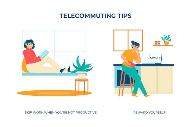 Ne Travaillez Plus Lorsque Vous N'êtes Pas Productif Vecteur gratuit