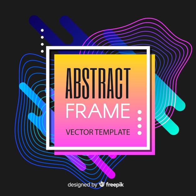 Néon abstrait Vecteur gratuit
