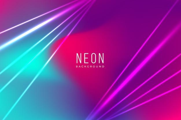 Néon coloré avec des effets de lumière Vecteur gratuit