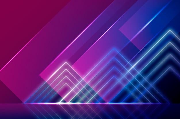 Néon Formes Polygonales Fond Clair Vecteur gratuit