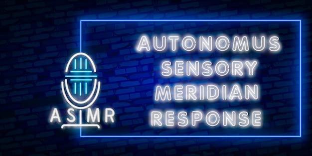 Néon réponse sensorielle autonome méridien Vecteur Premium